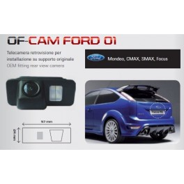 CAMERA DE RECUL INTEGREE DANS ECLAIRAGE PLAQUE FORD C-MAX