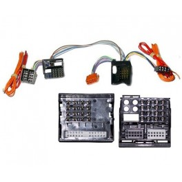 FAISCEAU KIT MAIN LIBRE VOLKSWAGEN SHARAN 2000- DOUBLE DIN - FAKRA COMPLET 40PINS -ISO