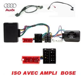 CDE AU VOLANT POUR AUDI TT 2003-2006 ISO AVEC AMPLI BOSE