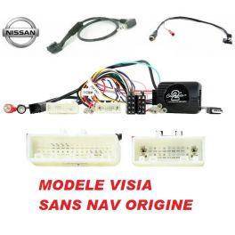 CDE AU VOLANT PARROT POUR NISSAN QASHQAI 2014- POUR modele VISIA SANS NAV ORIGINE