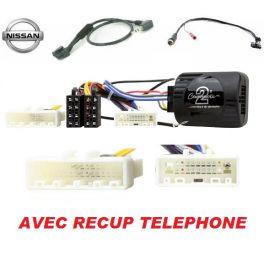 CDE AU VOLANT CLARION POUR NISSAN JUKE 2010- AVEC RECUP TELEPHONE