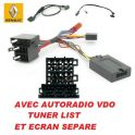 CDE AU VOLANT POUR Renault Kangoo II 2000-2005 AVEC TUNER LIST ECRAN SEPARE