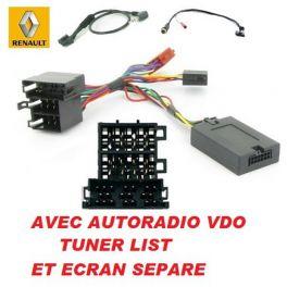 CDE AU VOLANT POUR Renault Modus 2004-2012 AVEC TUNER LIST ECRAN SEPARE