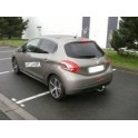 ATTELAGE PEUGEOT 208 03/2012- (Sauf GTI et FELINE) - RDSO DEMONTABLE SANS OUTIL