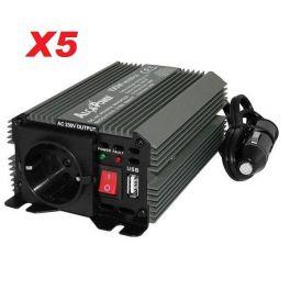 SURVOLTEUR 12V /220V 50 Hz 150 W PRISE TERRE INTER ALLUME CIGARE (PAR 5 PIECES)