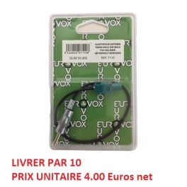 ADAPTATEUR D ANTENNE FAKRA MALE DIN MALE PSA VAG BMW  BLISTER (PRIX PAR 10 PIECES MINIMUM)