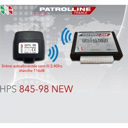 ALARME CAN BUS HPS845 PATROL LINE V.29 AVEC SIRENE SANS FIL HPS98