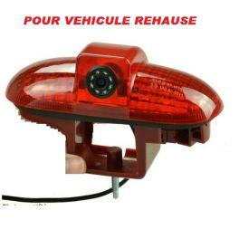 CAMERA DE RECUL INTEGREE DANS 3E FEU DE STOP RENAULT TRAFIC 2010- NTSC POUR VEHICULE REHAUSSE